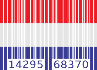 bar code flag netherlands