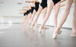 young dancers ballerinas in class classical dance, ballet - 81084404