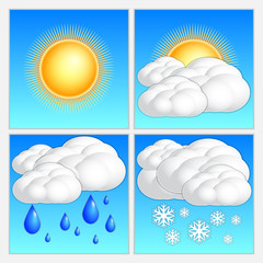 Vector abstract day weather image set
