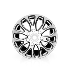Car alloy wheel   on white background