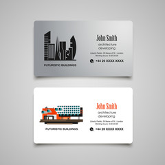 Architecture developing or rent business card vector template