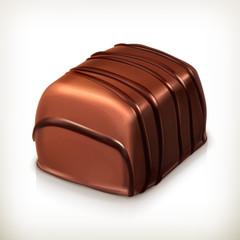 Chocolate candy, vector icon