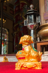 the gold dog statue from Chinese zodiac