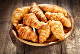 plate of fresh croissants