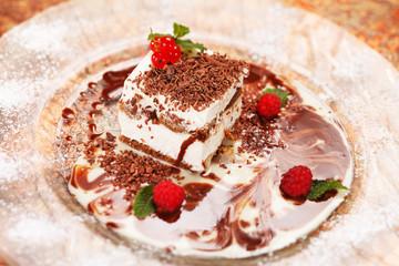 Italian dessert with berries