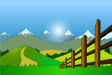 Country side nature background