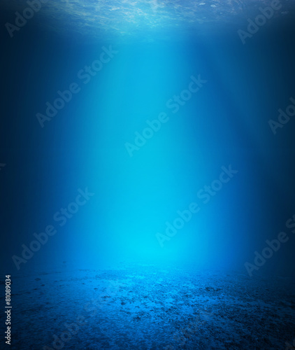 Foto op Aluminium Onder water Underwater background