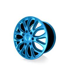 Car alloy wheel   on white background