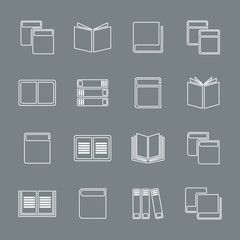 Outline book icon