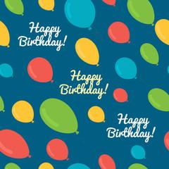 seamless pattern balloons birthday.