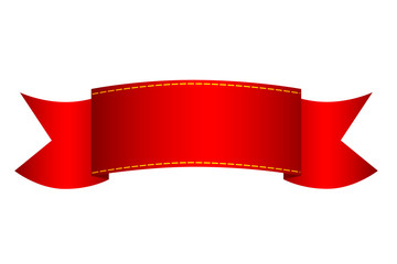 Red Ribbon Label