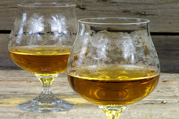 Two glasses of cognac