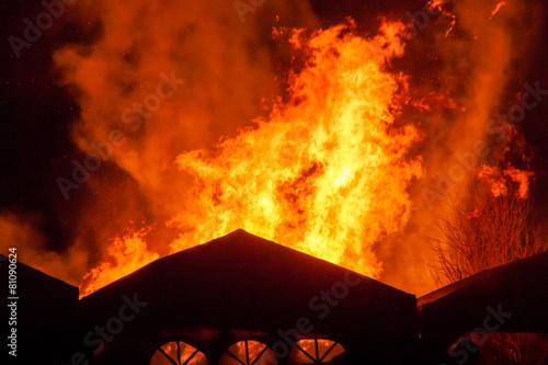 Fotobehang Vuur / Vlam Feuersbrunst