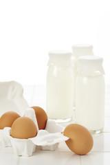 ミルクと卵