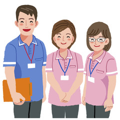 介護 福祉士 Smiling caregivers