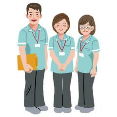 介護 福祉士 Smiling caregiver staffs