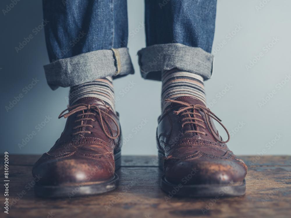 but skarpetka stojący - powiększenie