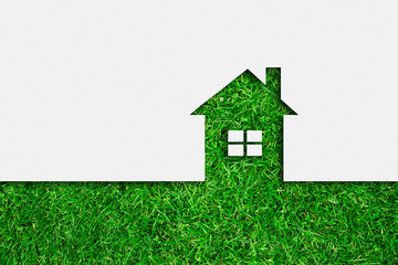 Simple green eco house icon