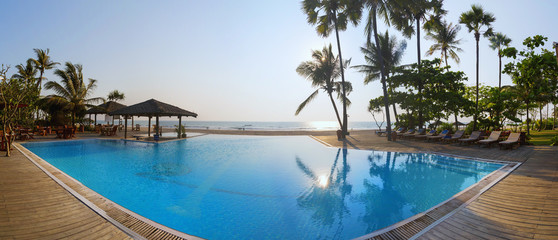 Ngwe Saung Beach, luxury resort. Myanmar