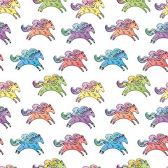 Vector Baby Horse Pattern