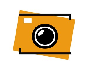 camera photo outline image logo vector