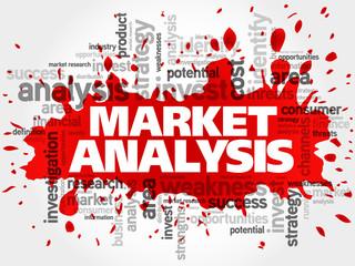 Market Analysis words cloud, business concept