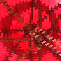 Carmine Red Star Abstract Low Polygon Background