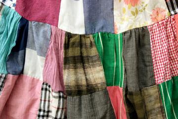 patchwork quilt dress background