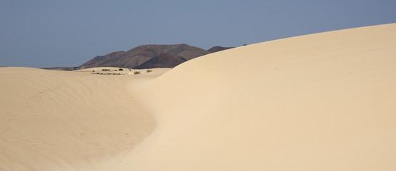 dunes et volcans du désert de corralejo