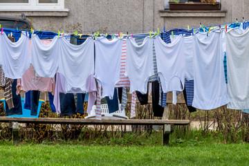 Wäsche zum Trocknen