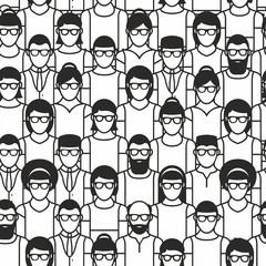 Seamless pattern group people