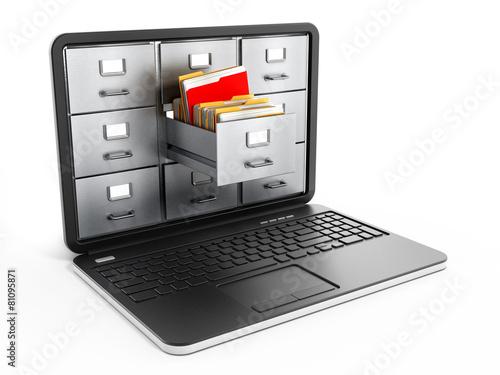 Laptop computer data storage concept - 81095871