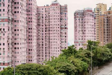 Apartment Building in Hong Kong.