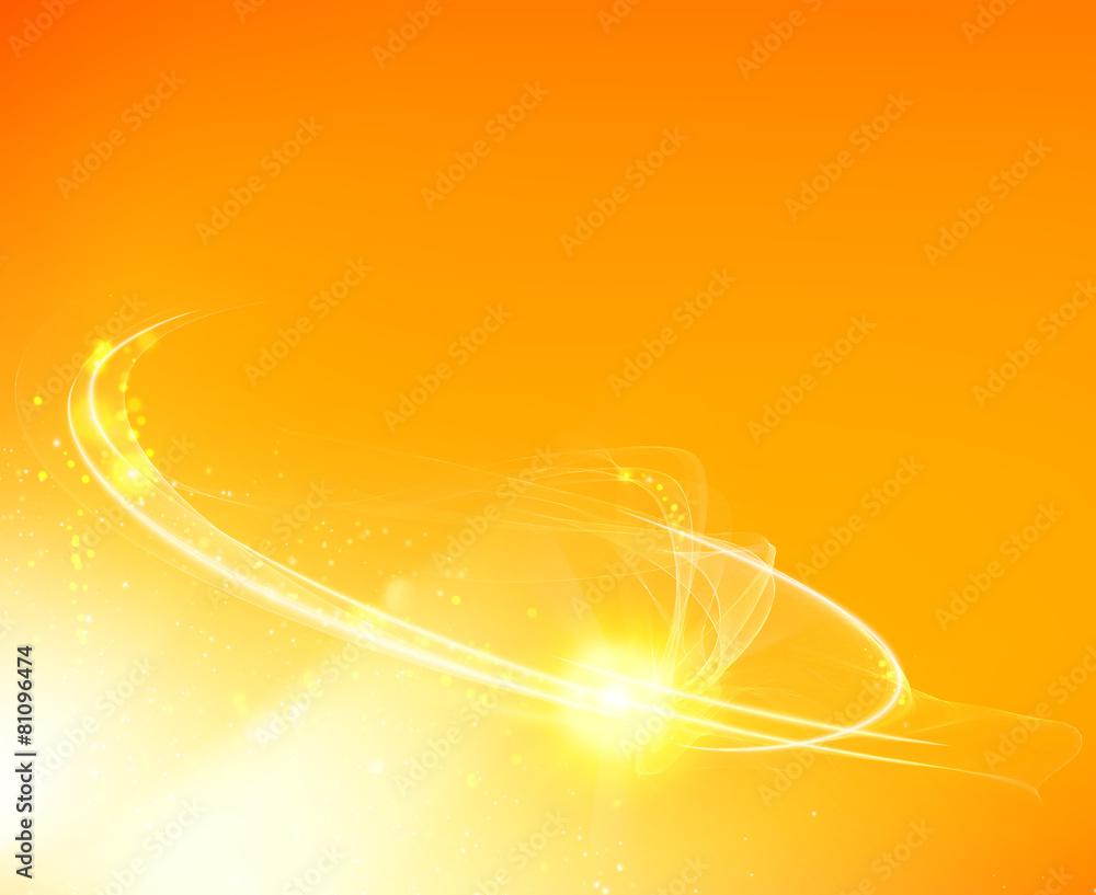 złoto streszczenie wirowa - powiększenie