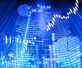 Stock market chart..