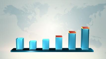Business Chart 3D, Growing success, profit, money