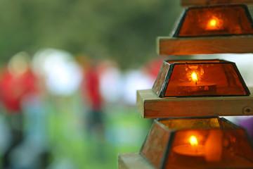 Laterne Kerzen Garten Spaß