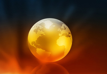 3d render of globe ..