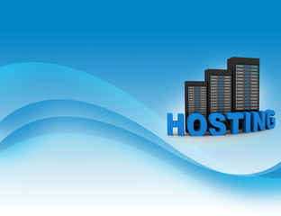 Web hosting  and internet communication concept
