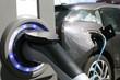 Leinwanddruck Bild - Ladestecker E-Auto
