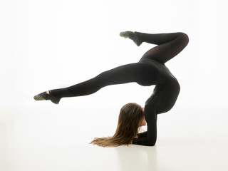 beautiful gymnastics pose