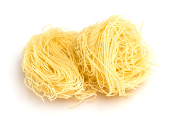 Heap of dry vermicelli  isolated on white