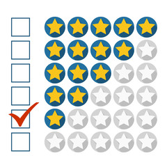 Vector illustration of low rating concept