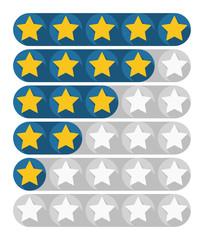Rating stars, vector illustration