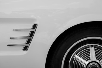 Detail of a vintage classic car