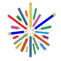 Set of pencils. Vector illustration
