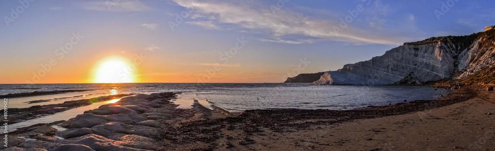 wschód morze słońce - powiększenie