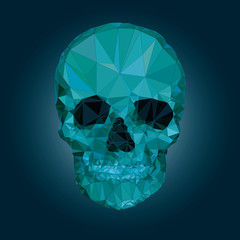 Skull low poly vector crystal