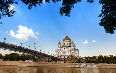 View of Cathedral of Christ the Saviour, Moscow, Russia