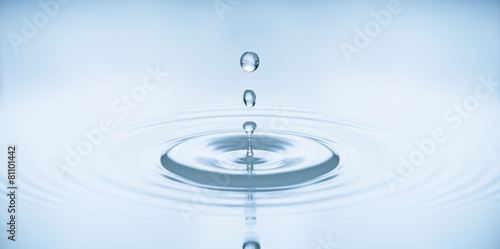 water bubbles in blue - 81101442